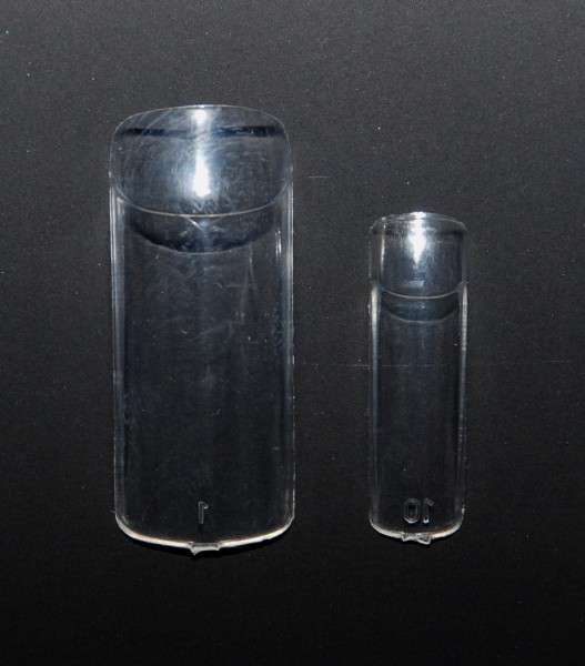 Glas-Tips sortiert